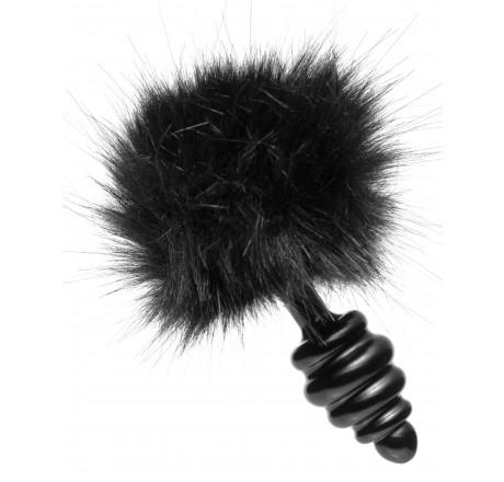 Bumble Bunny Faux Fur Tail Plug