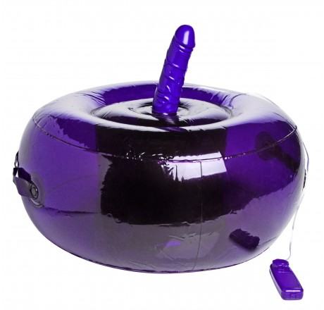 Purple Inflatable Seat with Vibrating Dong