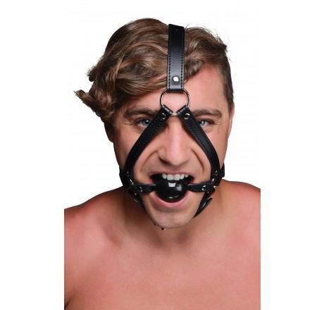 Head Harness with inch Ball Gag