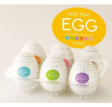 Easy Beat Egg Six Color Masturbator Six Pack