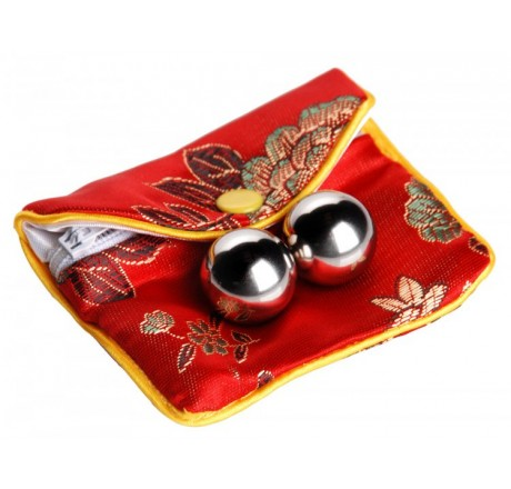 Stainless Steel Benwa Kegel Balls with Pouch