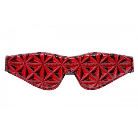 Crimson Tied Full Blackout Embossed Blindfold