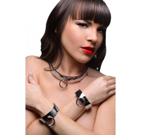 Chrome Slave Collar and Shackles Kit