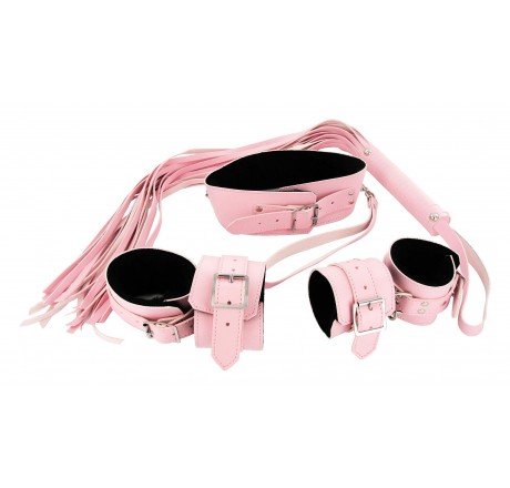 Strict Leather Pink Bondage Set