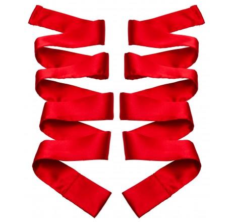 Scarlet Red Satin Sash Set