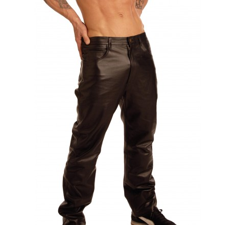 Mens Leather Pants - 34 Inch Waist
