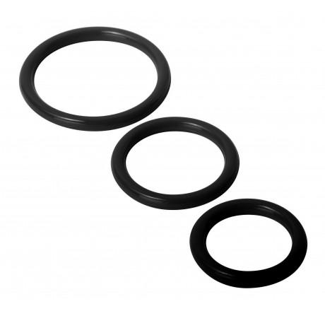 Trinity Silicone Cock Rings, Black