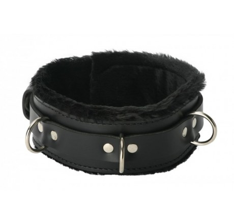 Strict Leather Premium Fur Lined Locking Collar- XL