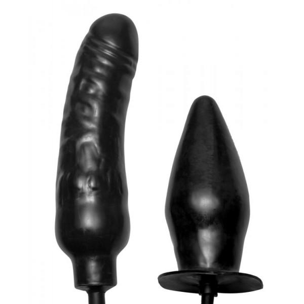 Double anal plug cock dildo