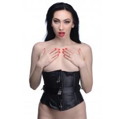 Strict Leather Locking Corset- Large