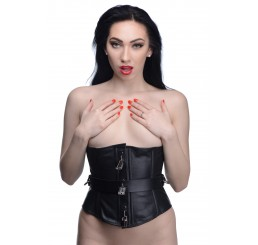 Strict Leather Locking Corset- Small