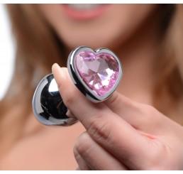 Pink Heart Anal Plug Set