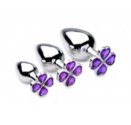 Violet Hearts Gem Anal Plug Set