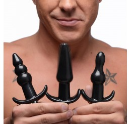 Thrill Trio Anal Plug Set - Black