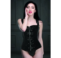 Lace-up Corset and Thong - Large