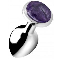 Genuine Amethyst Gemstone Anal Plug - Medium