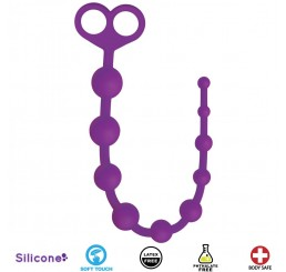 Perfect 10 Silicone Anal Beads - Purple