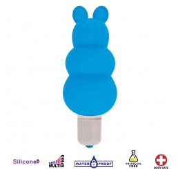 Excite Silicone Ripple Bullet Vibe - Blue