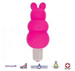 Excite Silicone Ripple Bullet Vibe - Pink