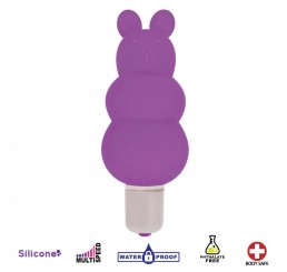 Excite Silicone Ripple Bullet Vibe - Purple
