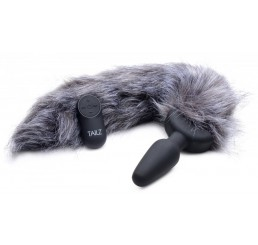 Remote Control Vibrating Fox Tail Anal Plug