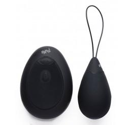 10X Silicone Vibrating Egg - Black