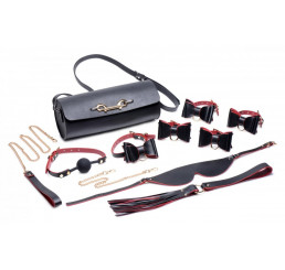 Black and Red Bow Bondage Set with Carry Case