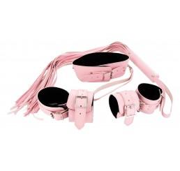 Strict Leather Pink Bondage Set