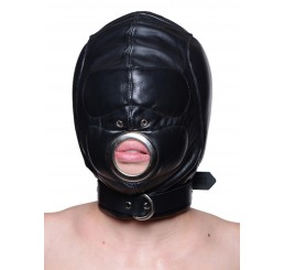 Leather Padded Hood with Mouth Hole - Medium/Large