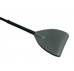 Grey Leather Riding Crop