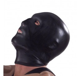 Black Hood with Eye, Mouth, and Nose Holes