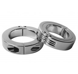 Locking Hinged Cock Ring - Medium