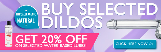 Buy selected Dildos - Get 20% discount on selected lubricants!